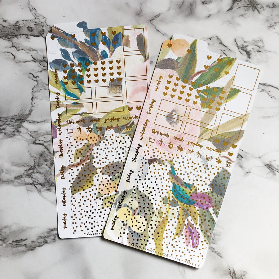 LAST CHANCE HK004 Whole Floral Hobonichi Weeks Sticker Kit