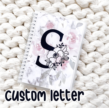 Sticker Reusable Book: CUSTOM Alphabet Floral