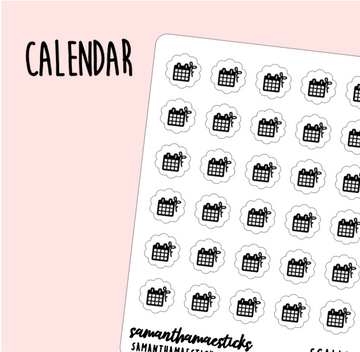 Calendar | Scallop Foiled Icon