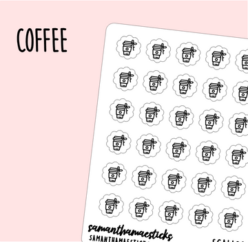 Coffee | Scallop Foiled Icon