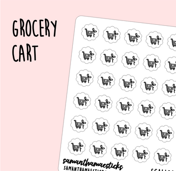 Grocery Cart | Scallop Foiled Icon