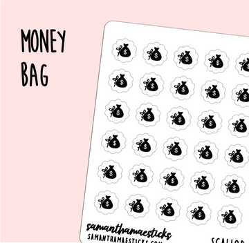 Money Bag | Scallop Foiled Icon