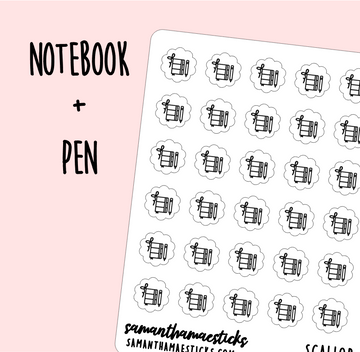 Notebook + Pen | Scallop Foiled Icon