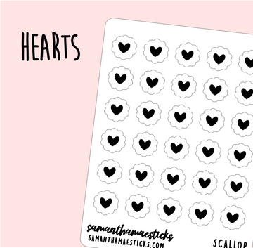 Hearts | Scallop Foiled Icon