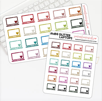 Glitter Laptop Mini/Large