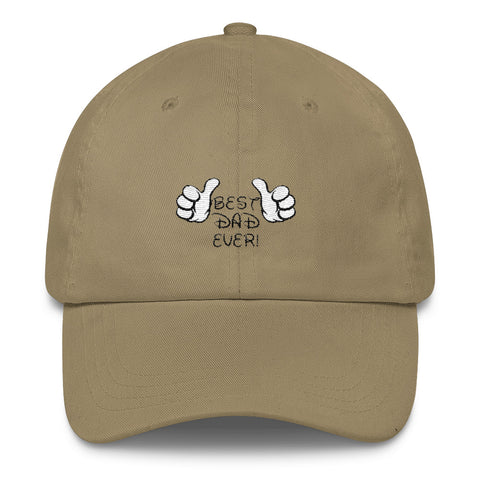 33bd22351 Embroidered Best Dad With Disney Style Font Classic Dad Cap ...
