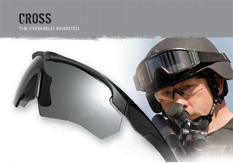 Military Goggles, Polarized Ballistic 3, 4 or 5 Lenses, Hunting Eye Shield