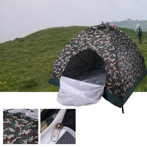 One bedroom 4person family tent Camouflage UV bottom waterproof