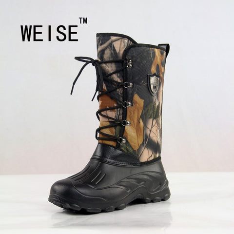 Men Outdoor Platform Waterproof Camouflage Hunting Fishing Shoes