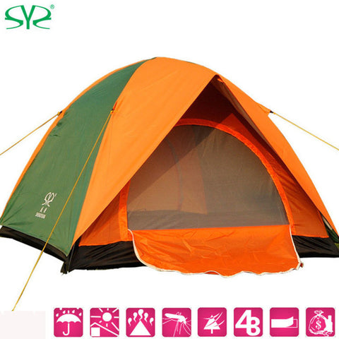 Double Layer 3/4 Person Rainproof Outdoor Tourist Camping Tent