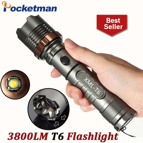 3800lm Torch CREE T6 5 modes LED Tactical Flashlight Torch Waterproof Hunting Light