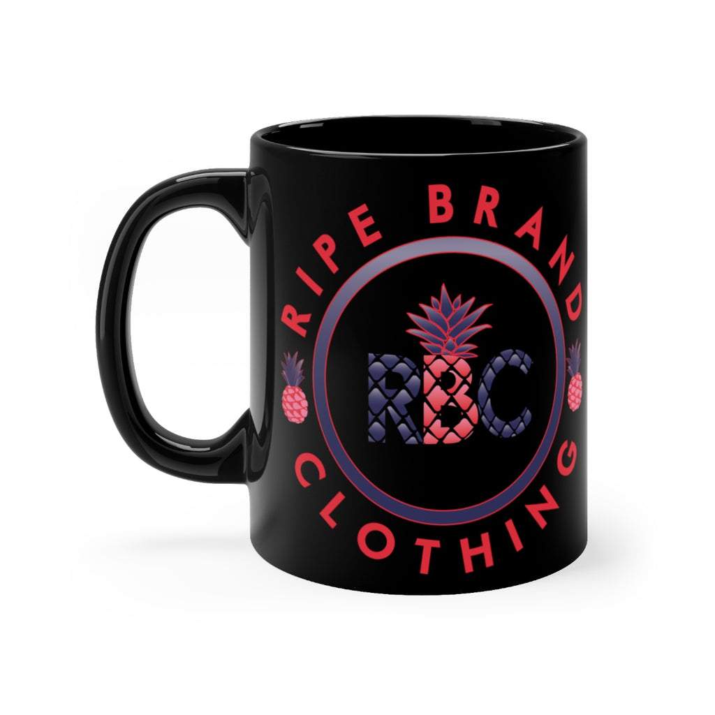 Purple Pineapple Black mug 11oz