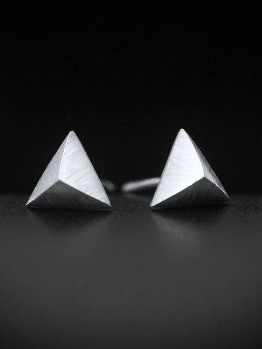 PUNK TRIANGLE EARRINGS 925 STERLING SILVER RING