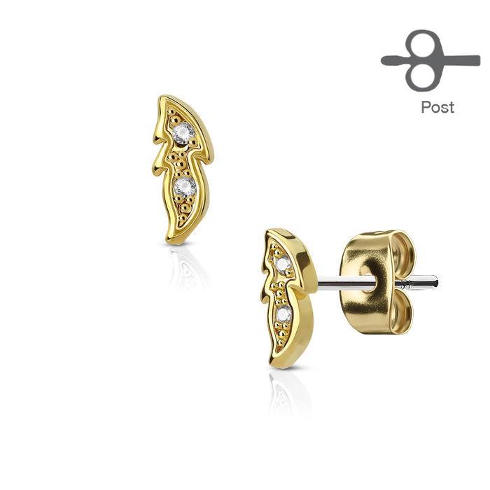 RB%-Aretes Anti Alergia Small Leaf
