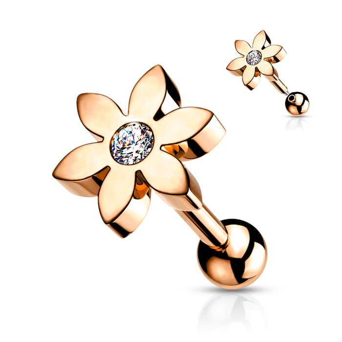 Flower Solitaire Rose gold