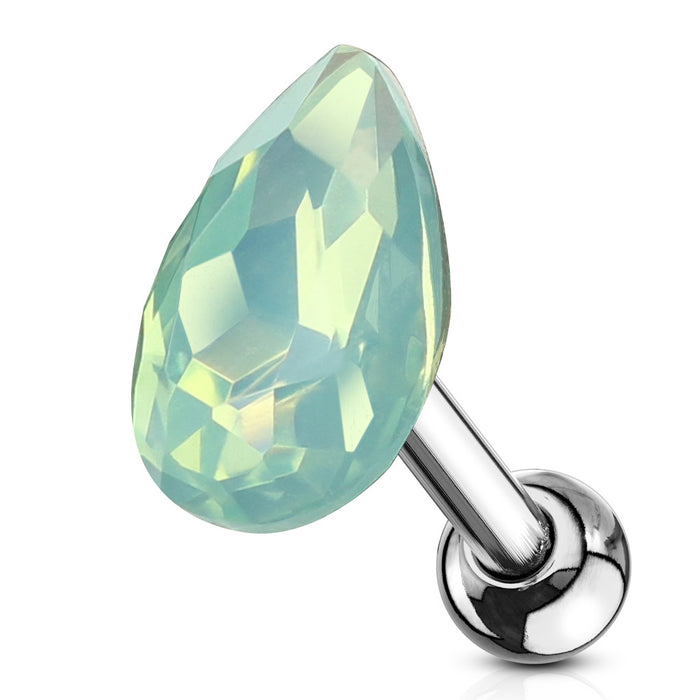 RB%- GREEN OPAL TEAR DROP