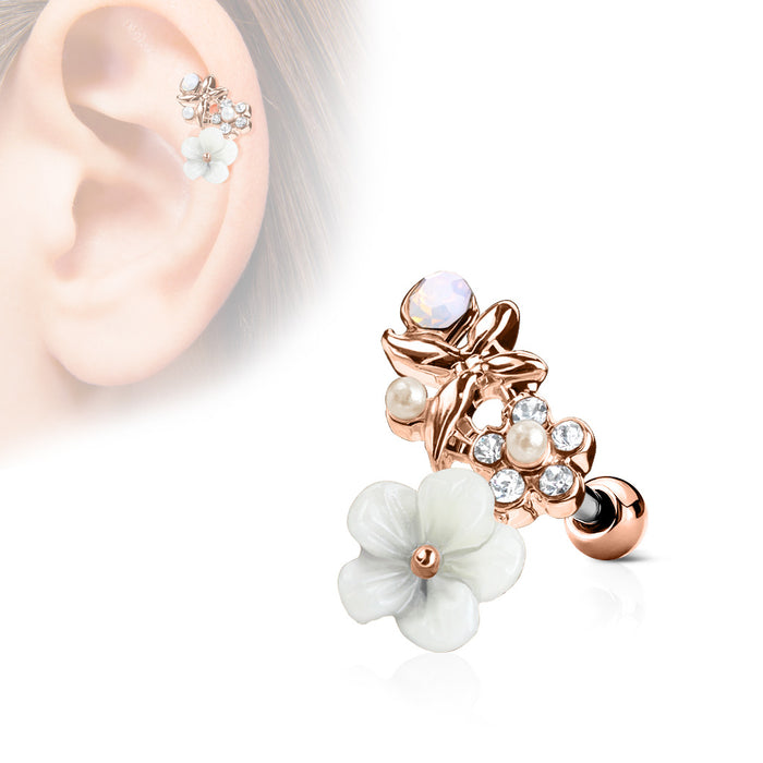 CLAY FLOWERS ROSEGOLD