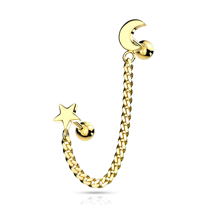 STAR AND CHAIN GOLD