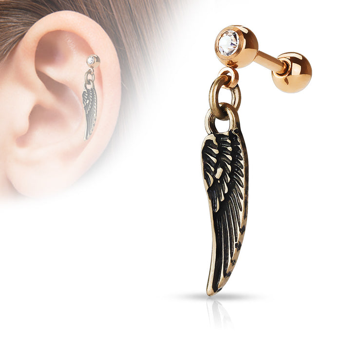 ANGEL WING OLD-ROSEGOLD
