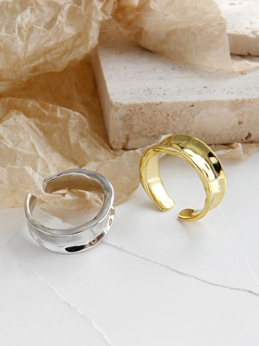 SILVER AND GOLD  925 STERLING SILVER RING