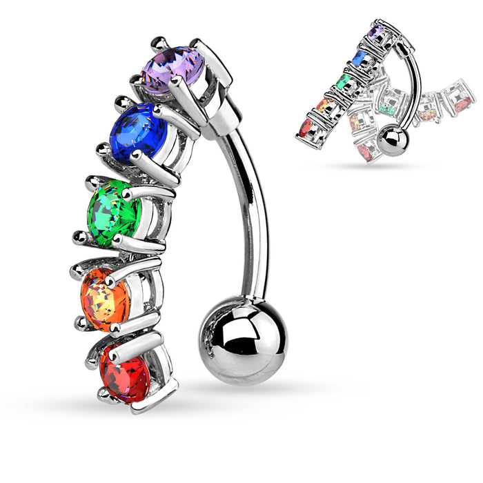 RB%-Ombligo Ring Rainbow