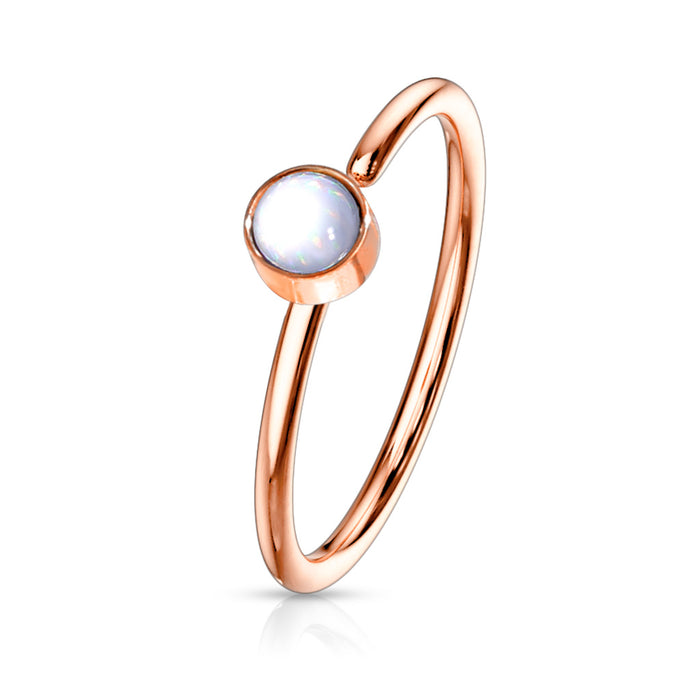 ILLUMINATING HOOP ROSEGOLD