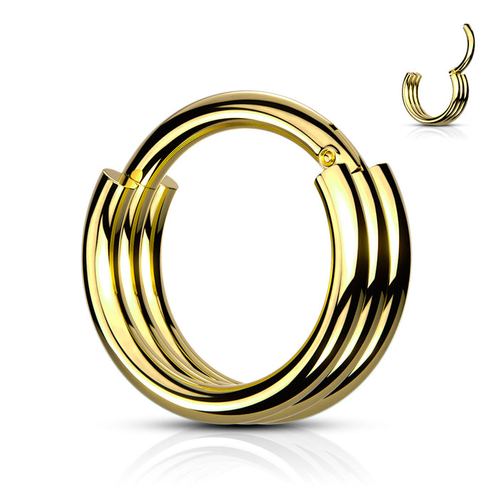 HOOP RINGS WITH TRIPLE-GD