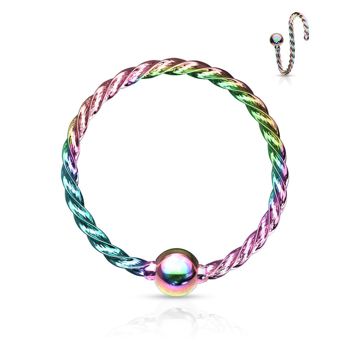 HOOP BALL TWISTED RAINBOW