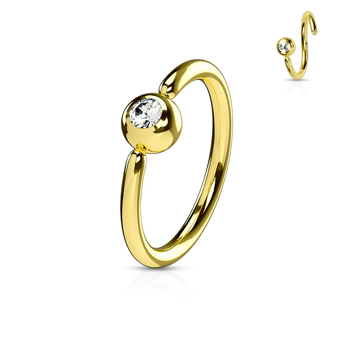Gold Hoop Ring