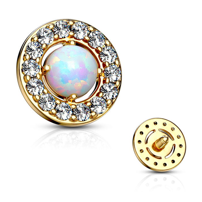 MICRO DERMAL PRONG SET OPAL
