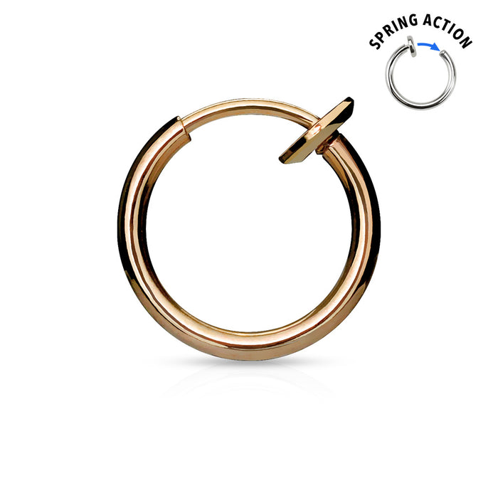 Fake Piercing Hoops Rosegold