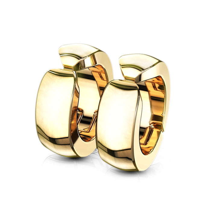 GOLD HOOPS FALSO ARETE