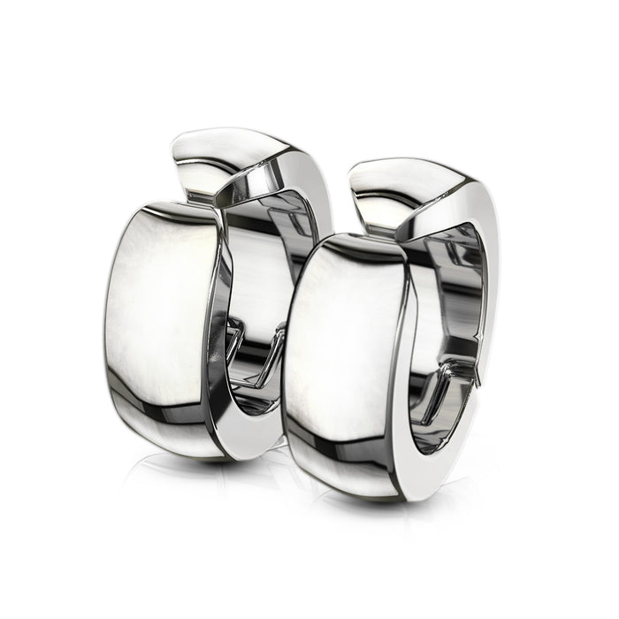 SILVER HOOPS FALSO ARETE