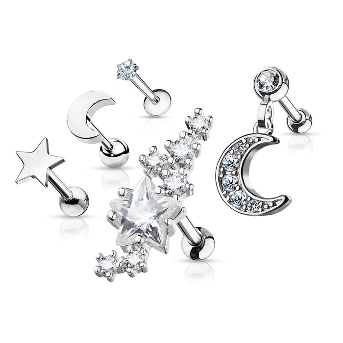 5-PCS VALUE JEWEL MIX SILVER
