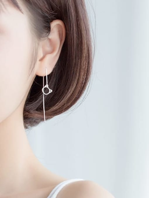 THREADER EARRINGS 925 STERLING SILVER