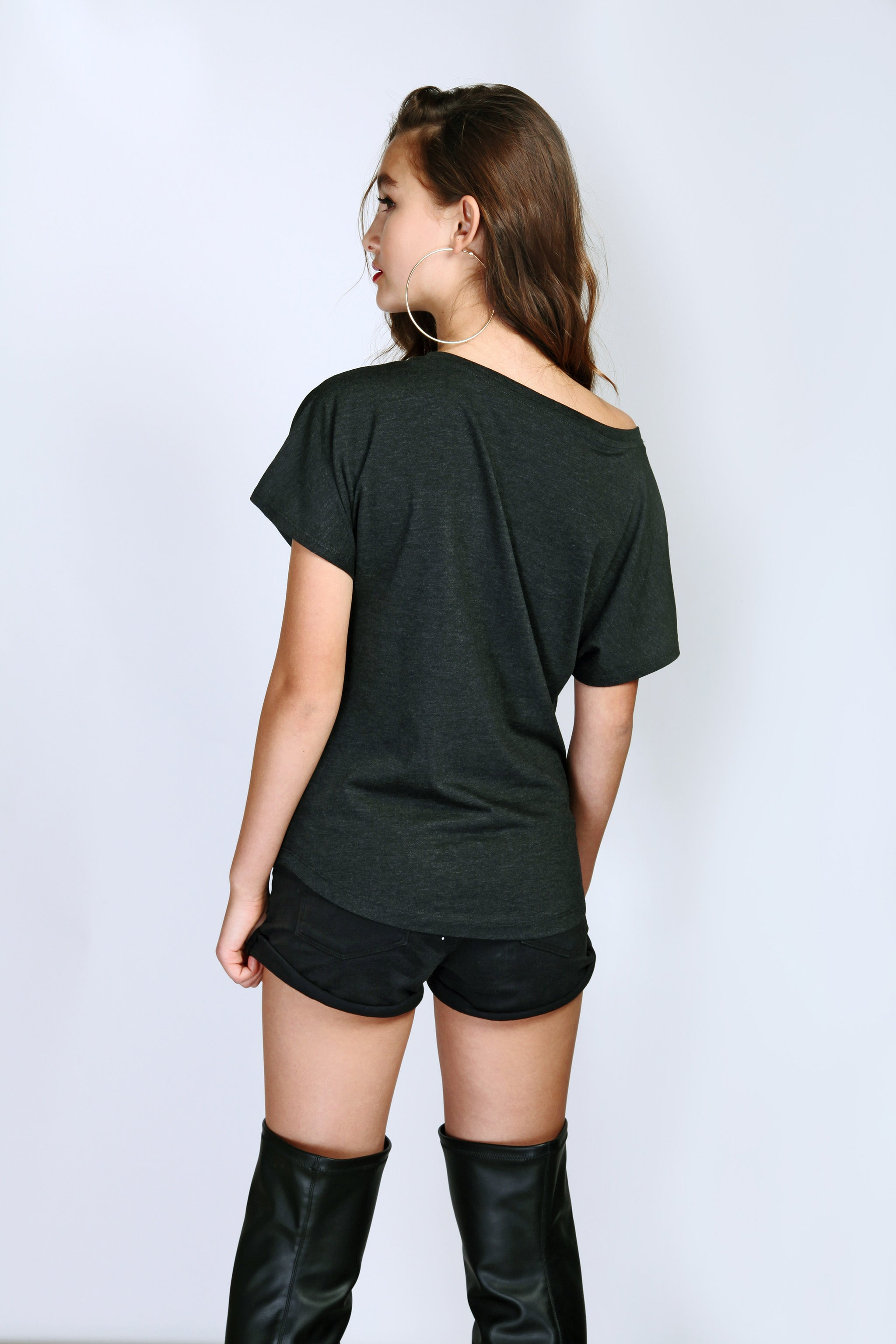 Foxy Off-Shoulder Sexy Cute T-Shirt back view