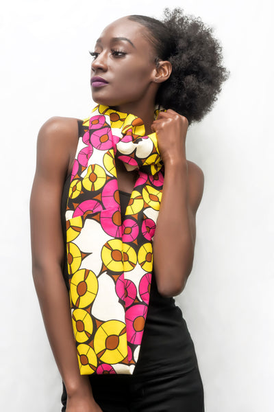 The Pink & Yellow Disc Infinity Scarf
