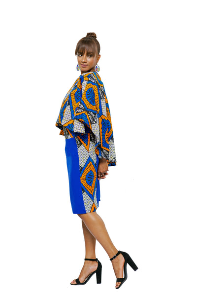 Neli Cropped Cape Top and Skirt