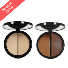 EVE PEARL HD Dual Foundation Contour Set-Fair & Deep