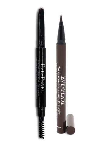 EVE PEARL Brow Liner & Definer Duo - Brown Espresso