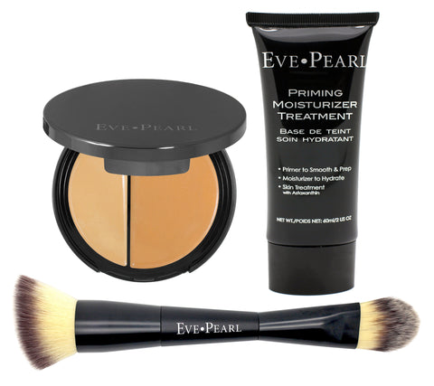 Priming Moisturizer, Dual Foundation & Contour Brush Collection