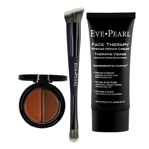 EVE PEARL Face Therapy Cream, Dual Salmon Concealer & 202  Brush