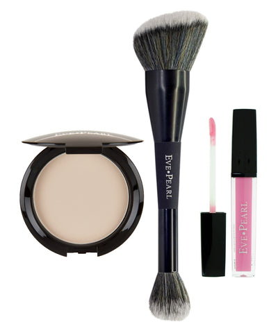 EVE PEARL 3-Pc Blot & Set Powder with Gloss- Porcelain