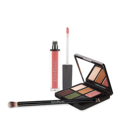 EVE PEARL Ultimate Eye Palette with Lip Gloss & Dual Brush