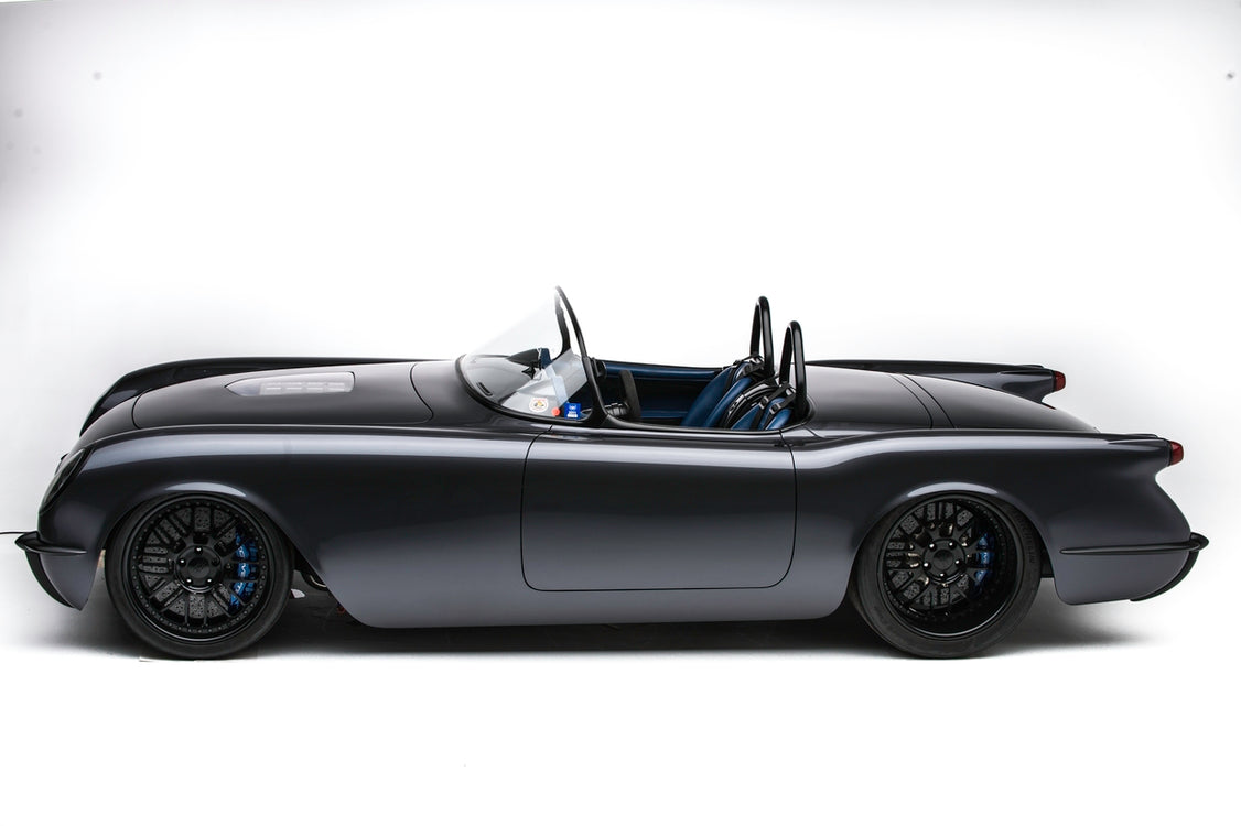"Murdered Out 1954 Corvette ""Death Star"" by Timeless Kustoms"