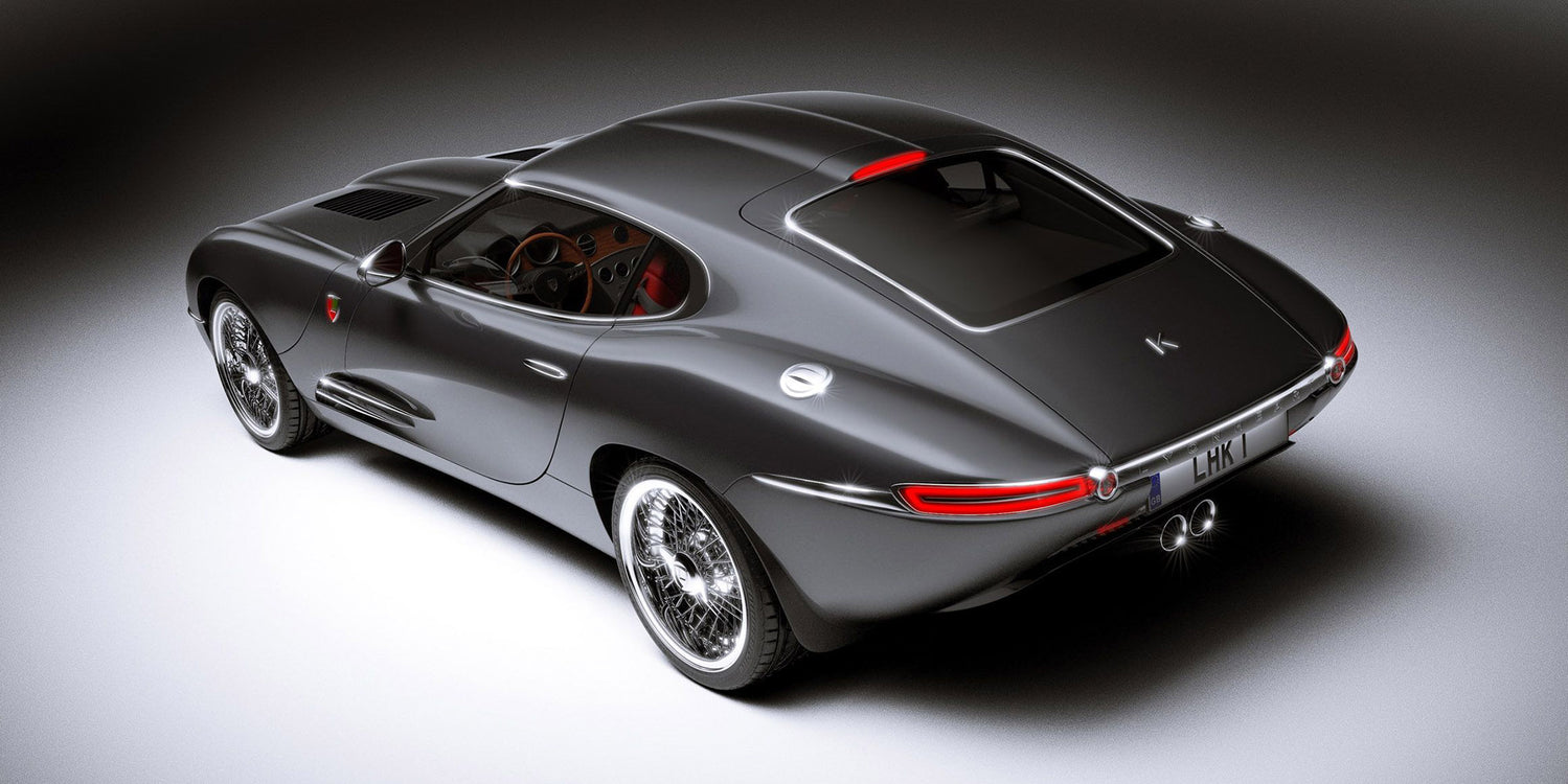 Lyonheart's K Coupé is a luxury sports car inspired by the Jaguar E-Type