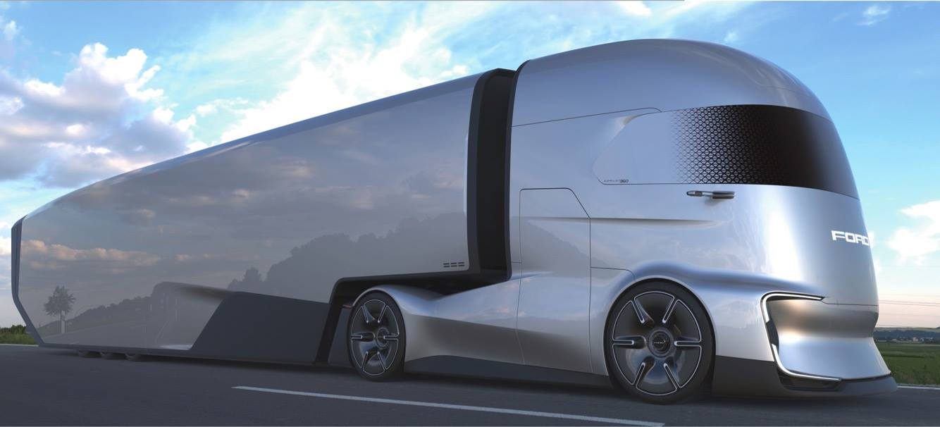 Ford Challenges Tesla with the F-Vision Semi Concept