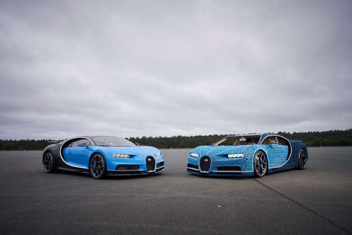 LEGO® Technic creates a 1:1 Driving Bugatti Chiron