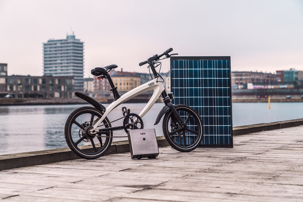 kvaern e-bike with charger view