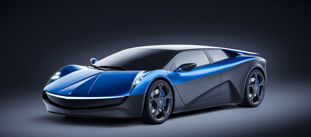 ELEXTRA electric supercar front view